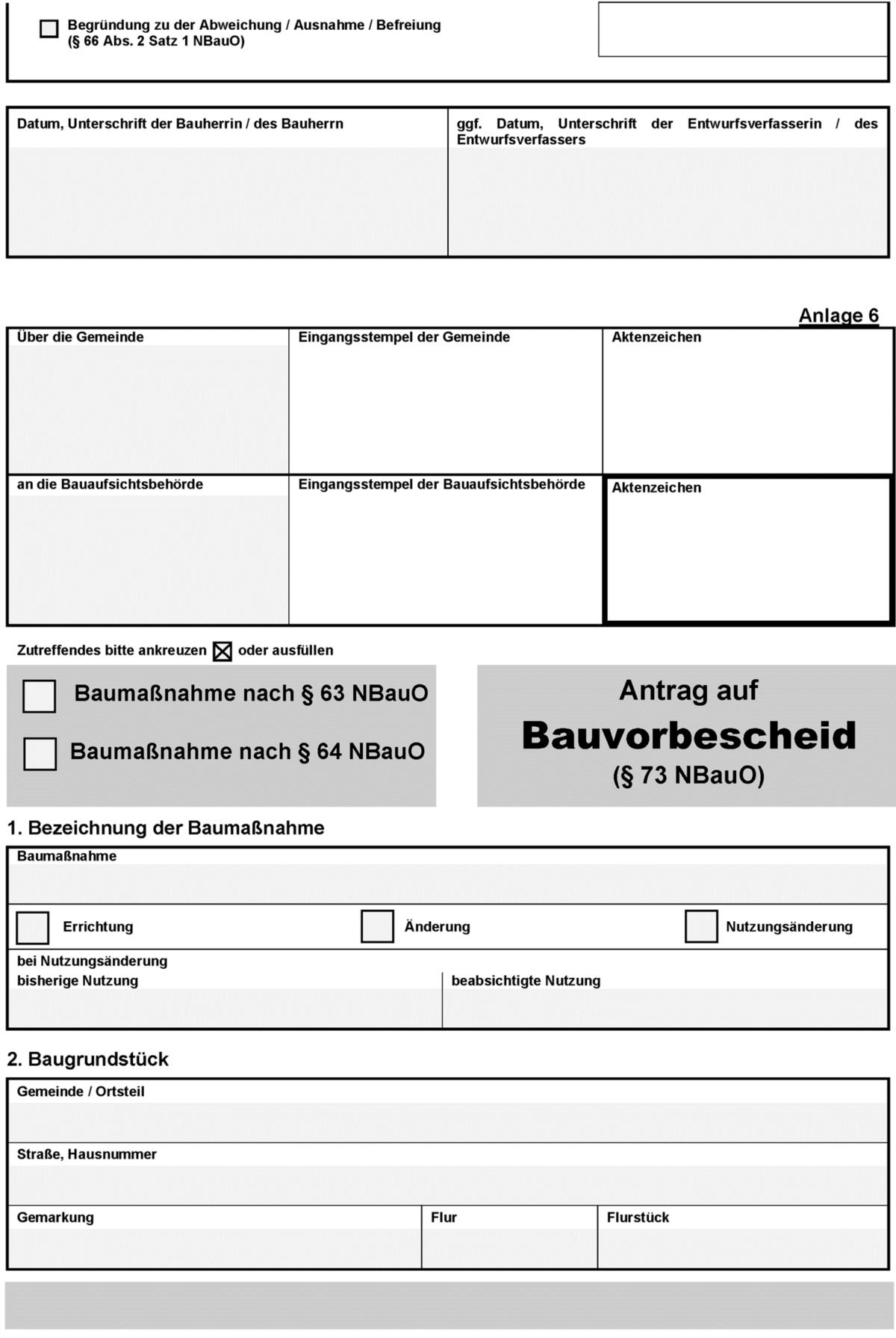 Bauvorlvo Verordnung Uber Bauvorlagen Und Die Einrichtung Von Automatisierten Abrufverfahren Fur Aufgaben Der Bauaufsichtsbehorden Beck Online